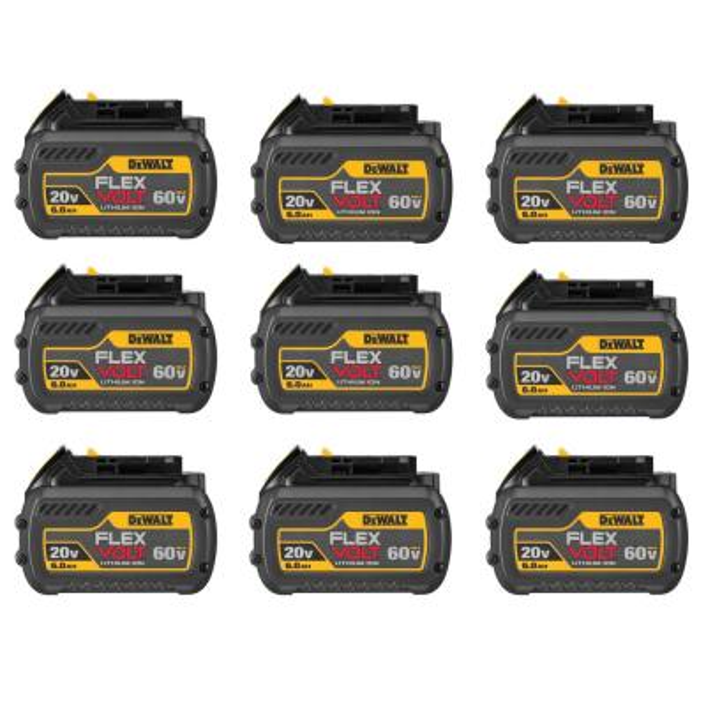 FLEXVOLT 20-Volt/60-Volt MAX Lithium-Ion 6.0Ah Battery Pack (9-Pack)