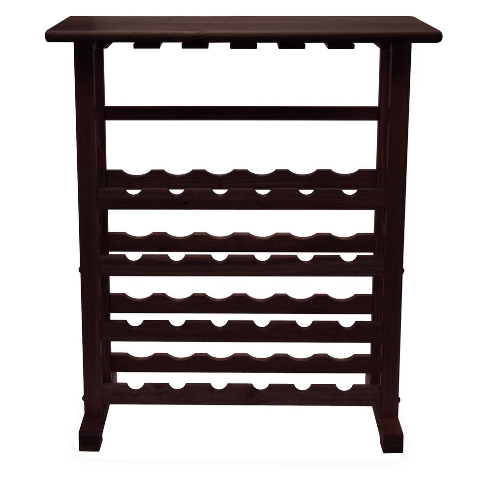 Winsome Wood Vinny 24 Bottle Espresso Floor Wine Rack 92023 The