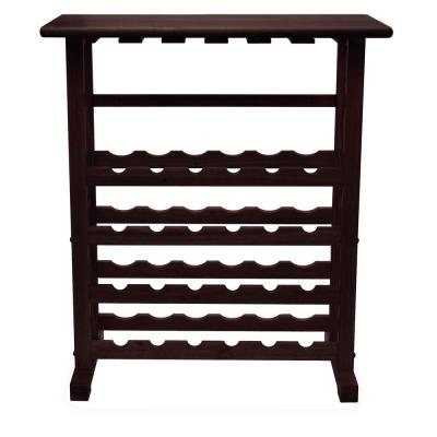 Vinny 24-Bottle Espresso Floor Wine Rack