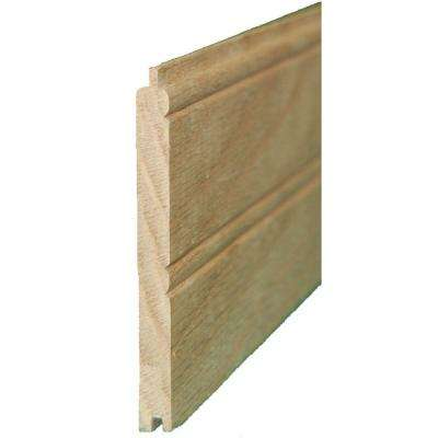 3-5/8 in. x 3.5 in. x 32 in. Knotty Pine Beaded Wainscot Paneling (12-Pack)