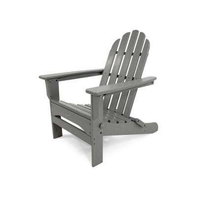 Cape Cod Stepping Stone Folding Plastic Adirondack Chair