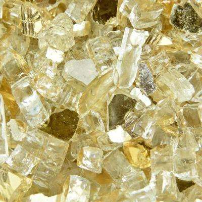 10 lbs. of Gold Strike 1/4 in. Reflective Fire Glass