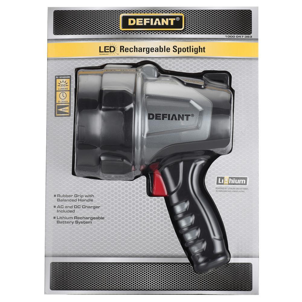 Led Spotlight Rechargeable: Defiant Rechargeable LED Work Spotlight-HD1514