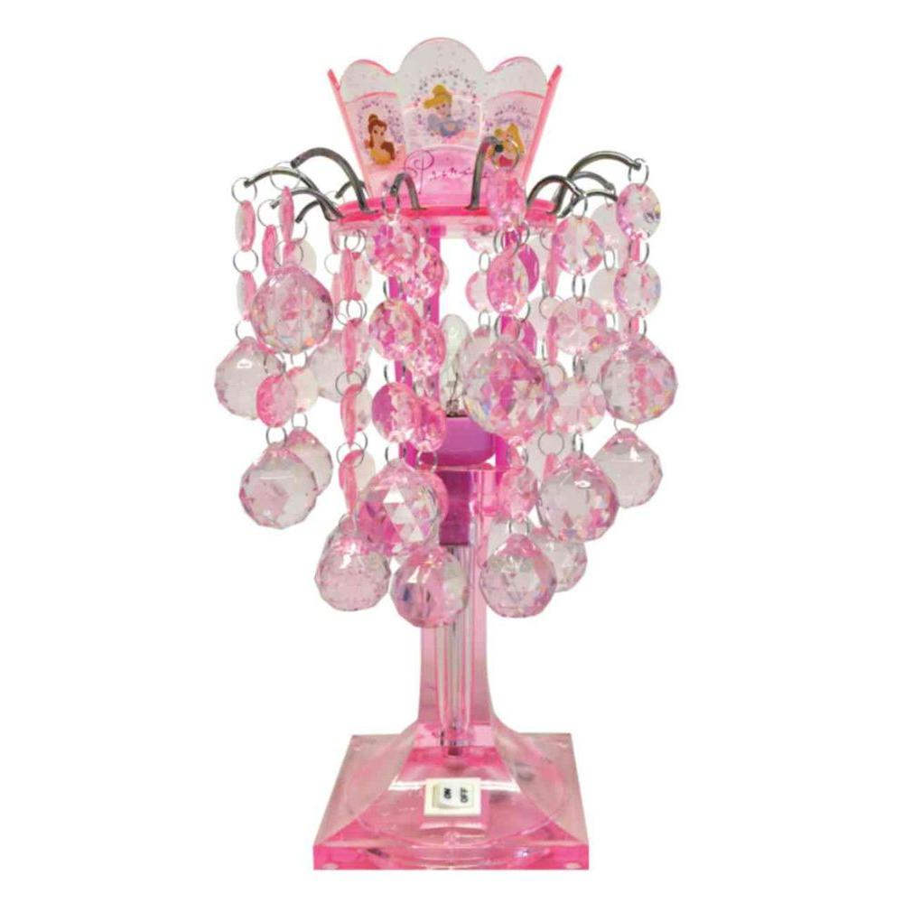 Disney 14 in. Princess LED Chandelier Lamp with crystal gems-DISCONTINUED