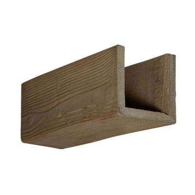 6 in. x 6 in. x 12 in. 3 Sided (U-Beam) Sandstone Honey Dew Endurathane Faux Wood Ceiling Beam Premium Sample