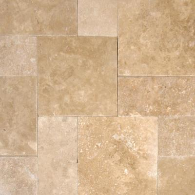 Mediterranean Pattern Walnut Tumbled Travertine Paver Kits (30-Kits/480 sq. ft./Pallet)