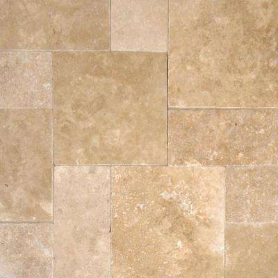 24 in. x 16 in. x 1.18 in. Mediterranean Pattern Walnut Tumbled Travertine Paver Kits (30-Kits/480 sq. ft./Pallet)