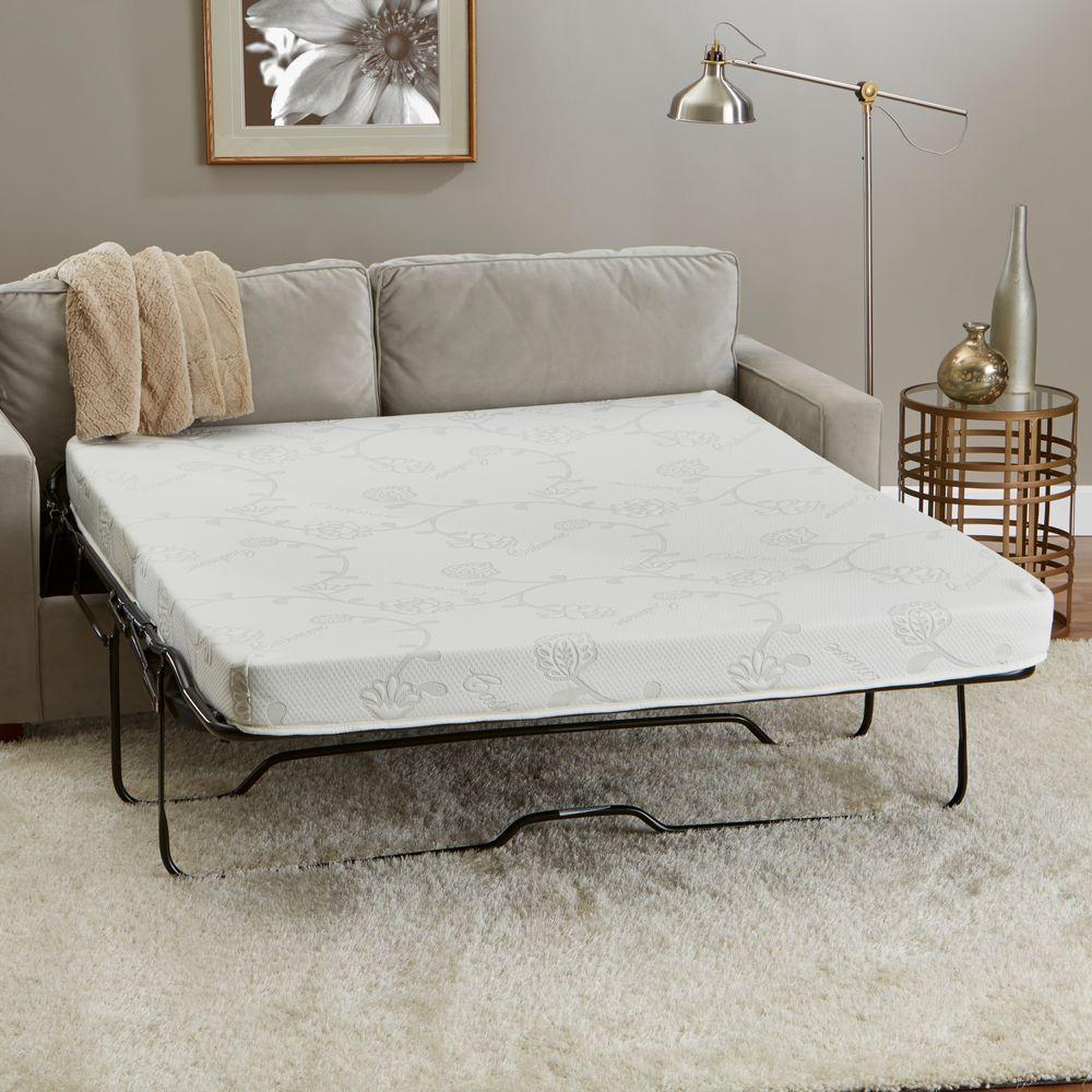 Innerspace 54 in. W x 72 in. L Full-Size Memory Foam Sofa...