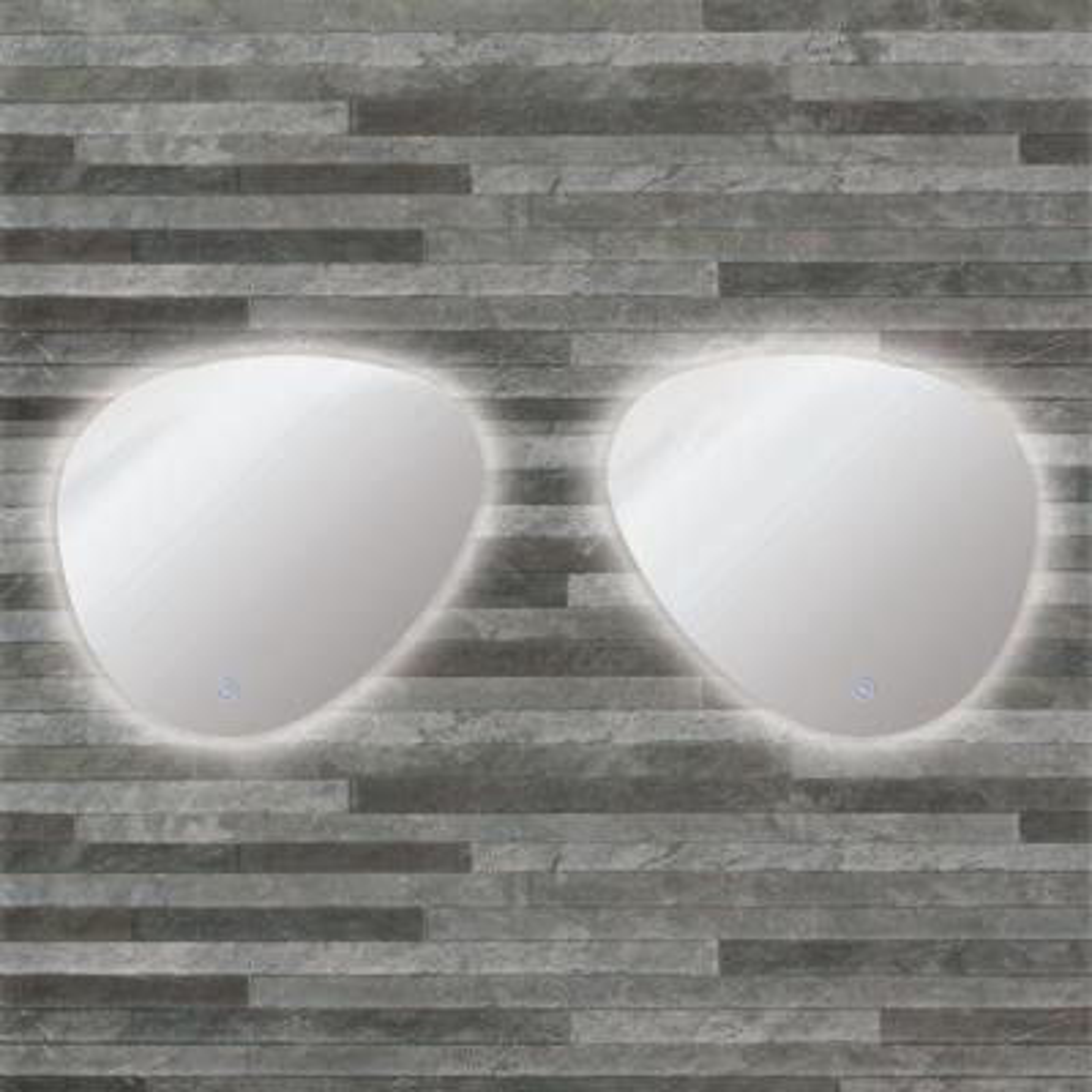 Harper 25.59 in. x 23.23 in. Single Frameless LED Mirror