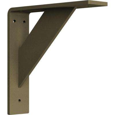 2 in. x 8 in. x 8 in. Steel Hammered Gold Traditional Bracket