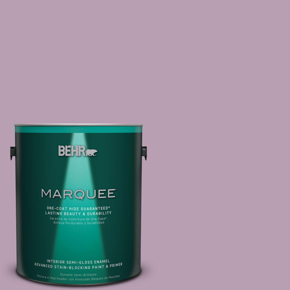 1 gal. #S110-4 Highland Thistle One-Coat Hide Semi-Gloss Enamel Interior Paint