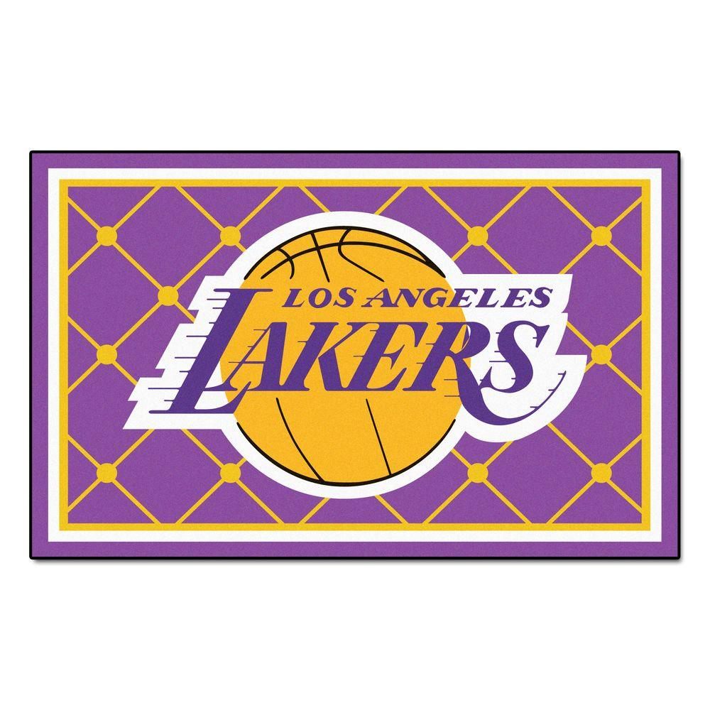 Fanmats Los Angeles Lakers 5 Ft X 8 Ft Area Rug 9299