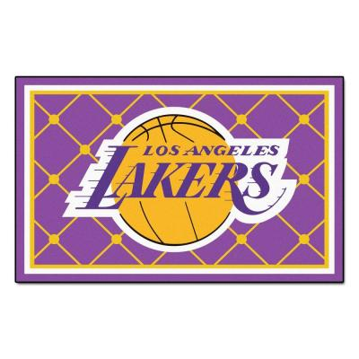Los Angeles Lakers 5 ft. x 8 ft. Area Rug