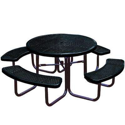 Portable Black Diamond Commercial Park Round Picnic Table