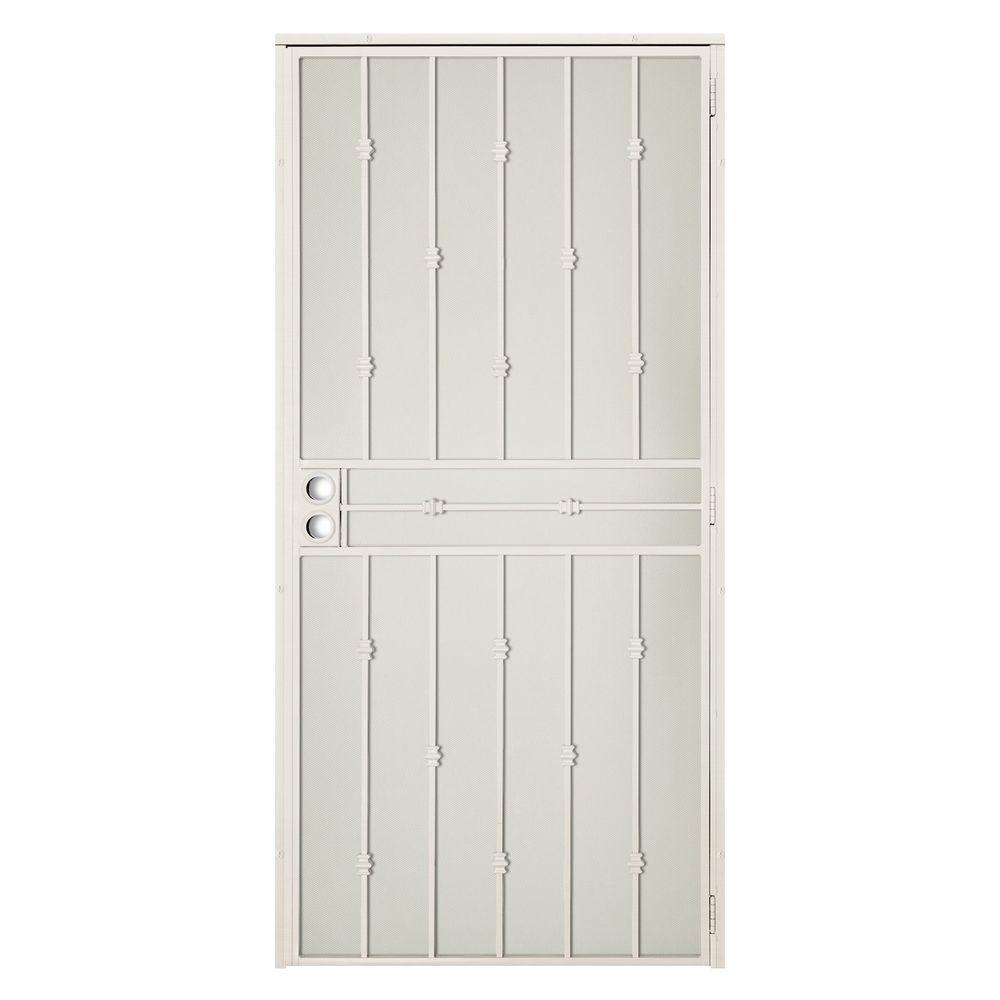 Unique home designs 36 in x 80 in solana white surface for New screen door home depot