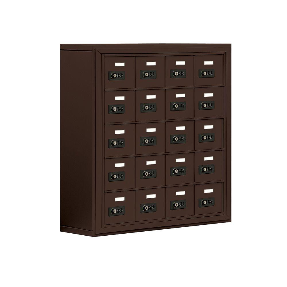 Salsbury Industries 19000 Series 30.5 in. W x 31 in. H x 9.25 in. D 20 A Doors S-Mount Resettable Locks Cell Phone Locker in Bronze