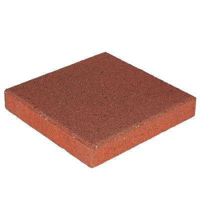 12 in. x 12 in. x 1.57 in. River Red Square Concrete Step Stone (168-Pieces/168 sq. ft./Pallet)