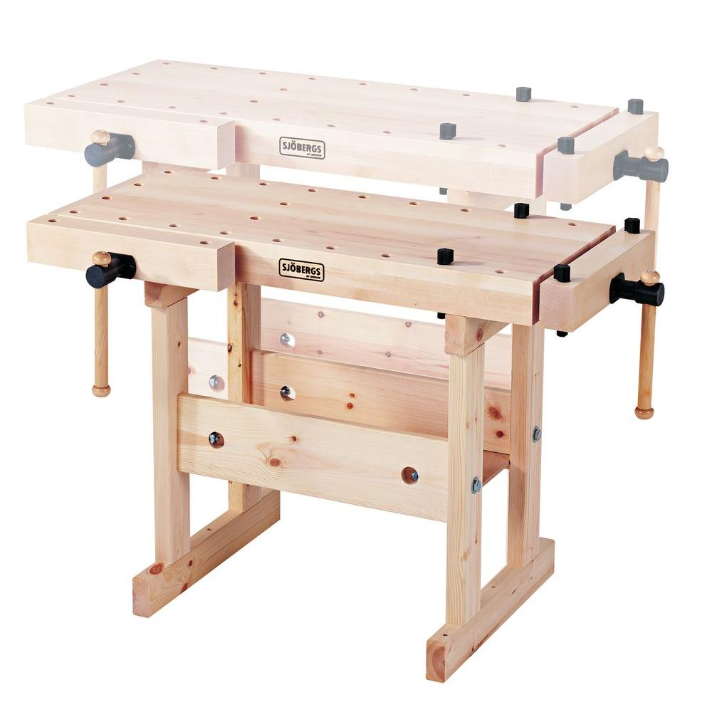 Sjobergs Junior and Senior 35 in. Workbench with 2 Trestles