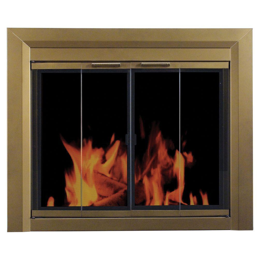 Carrington Small Glass Fireplace Doors