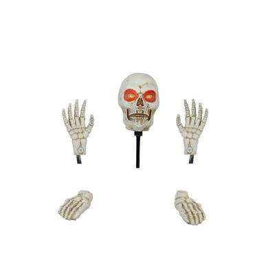 17 in. Skeleton Ground Breaker with LED Illumination including Head and Hands and Legs