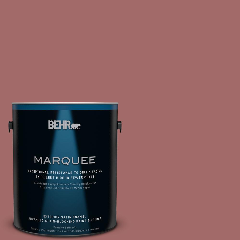 1-gal. #S150-5 Vermilion Satin Enamel Exterior Paint