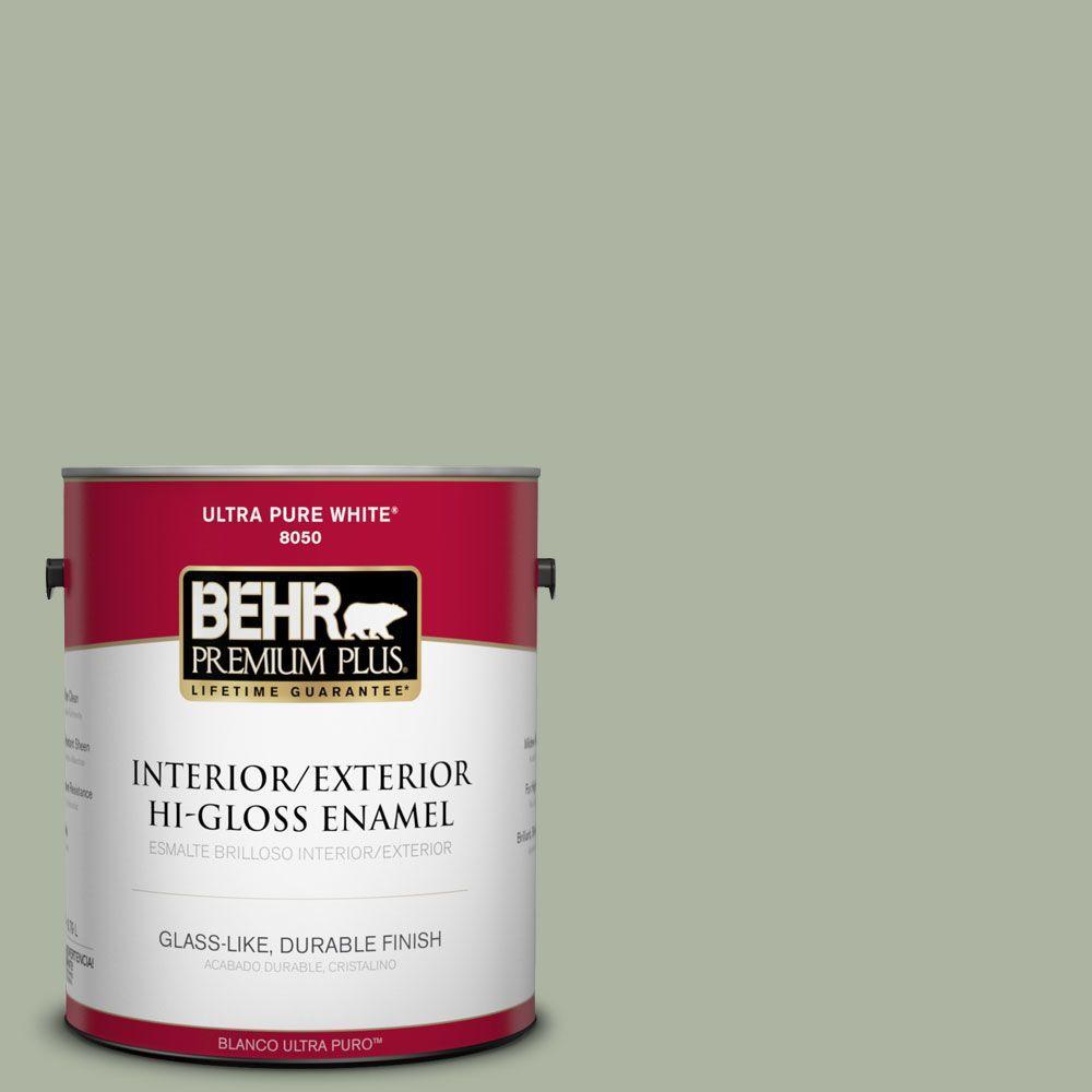 1-gal. #430E-3 Laurel Mist Hi-Gloss Enamel Interior/Exterior Paint