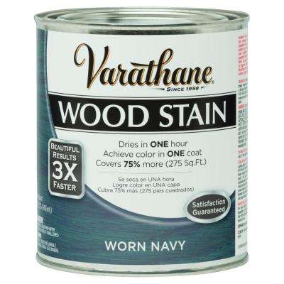 1 qt. 3X Worn Navy Premium Wood Interior Stain (Case of 2)