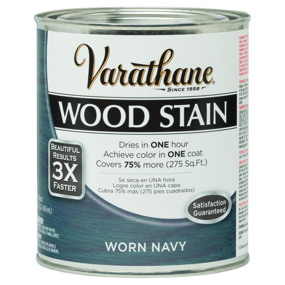 1 qt. 3X Worn Navy Premium Wood Stain (Case of 2)
