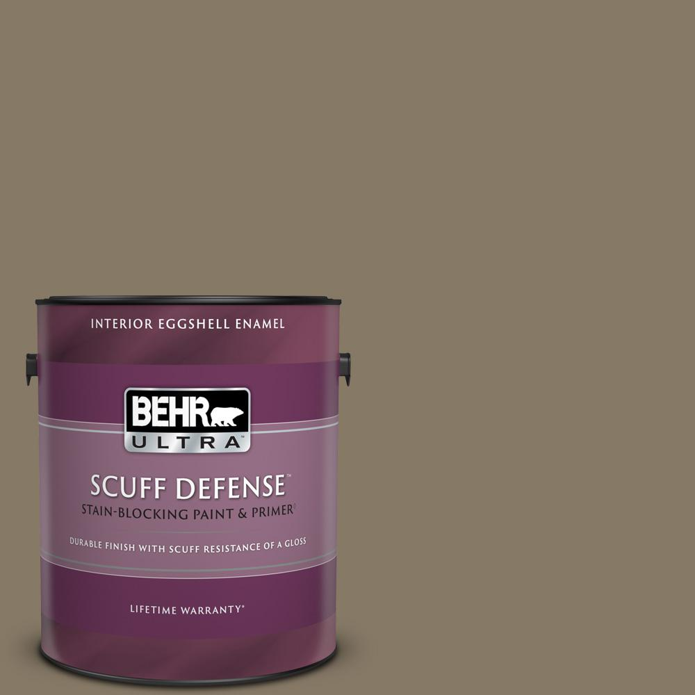 Behr Ultra 1 Gal 740d 6 Mountain Elk Extra Durable Eggshell Enamel Interior Paint And Primer In One 275301 The Home Depot