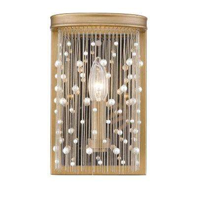 Marilyn 1-Light Peruvian Gold and Pearl Sconce