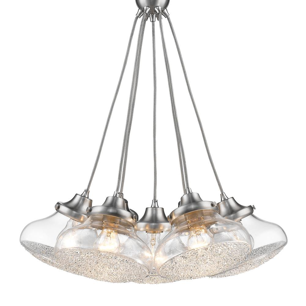 Asha 7-Light Pewter Pendant Light