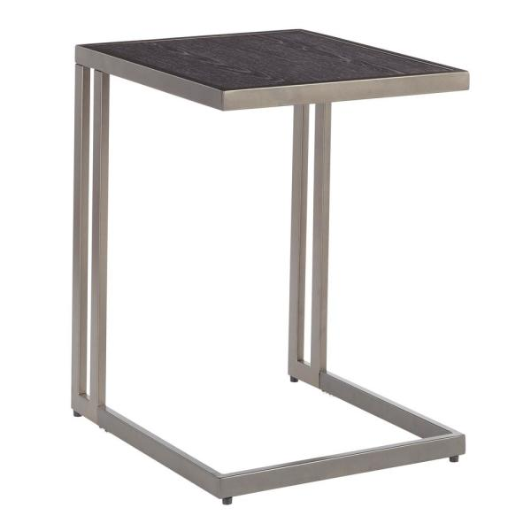 Lumisource Roman Industrial Side Table in Antique Metal with Dark Grey