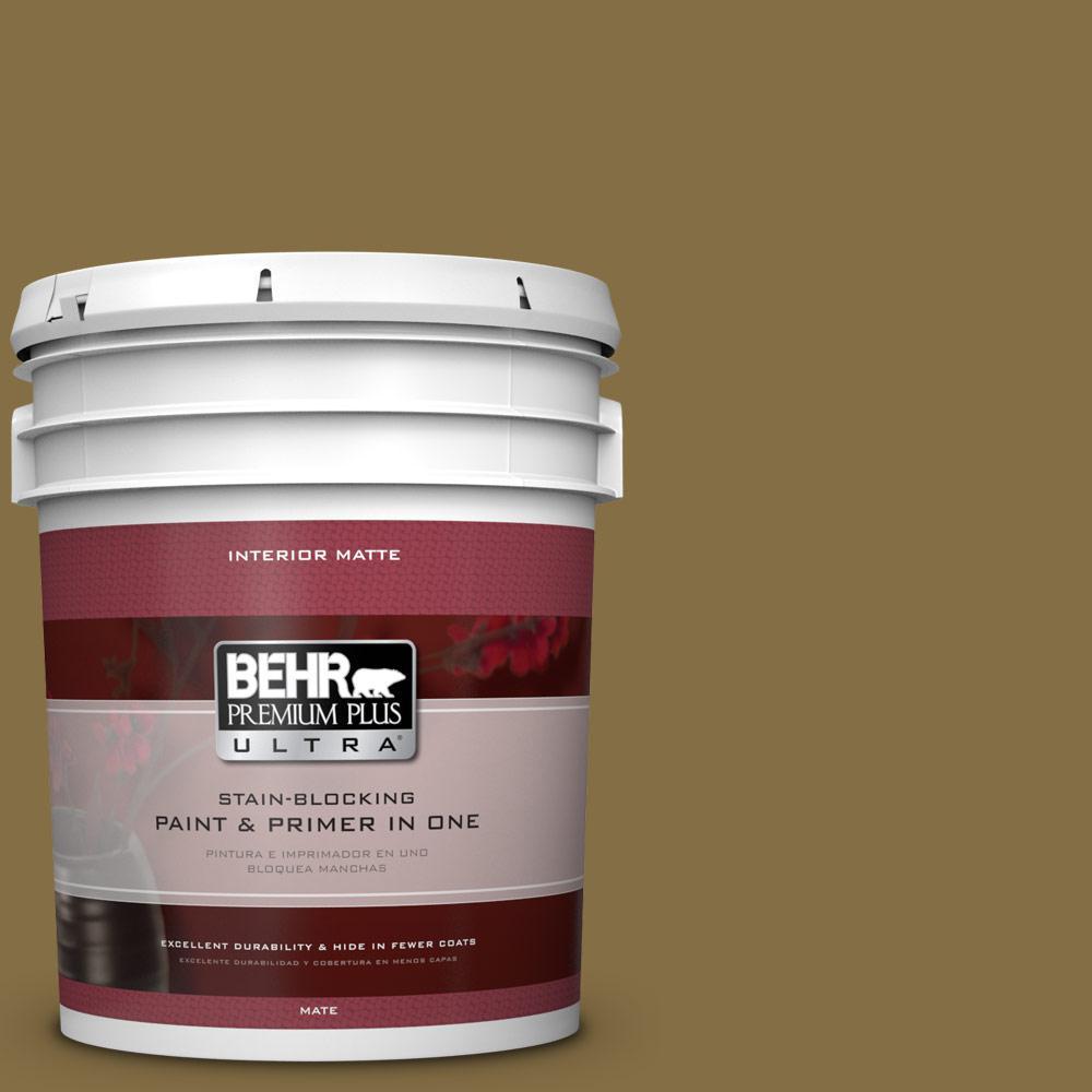 BEHR Premium Plus Ultra 5 gal. #370F-7 Pinetop Flat/Matte Interior Paint