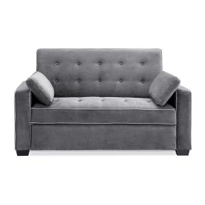 Brilliant Serta Augustus Microfiber Convertible Sofa Queen Size Bed Evergreenethics Interior Chair Design Evergreenethicsorg