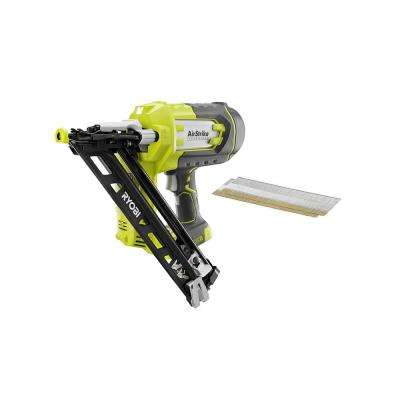 18-Volt ONE+ Lithium-Ion Cordless AirStrike 15-Gauge Angled Finish Nailer (Tool-Only) with Sample Nails