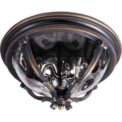 Camden Vivex 3-Light Golden Bronze Outdoor Flushmount