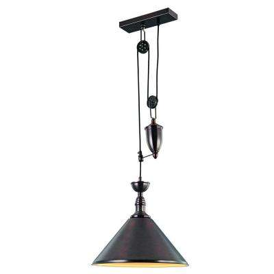 Industrial 1-Light Black Pendant Lamp