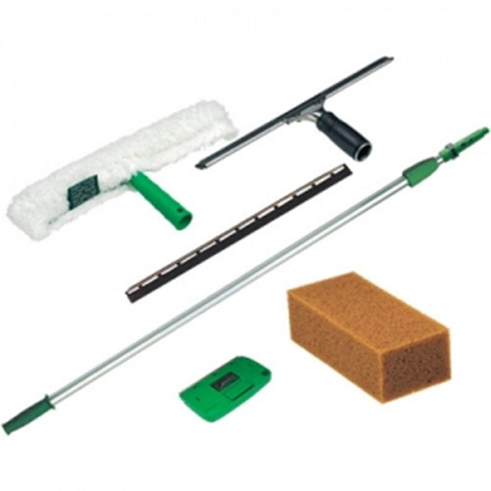 Unger Pro Window Cleaning Kit 8 Ft Pole Strip Washer