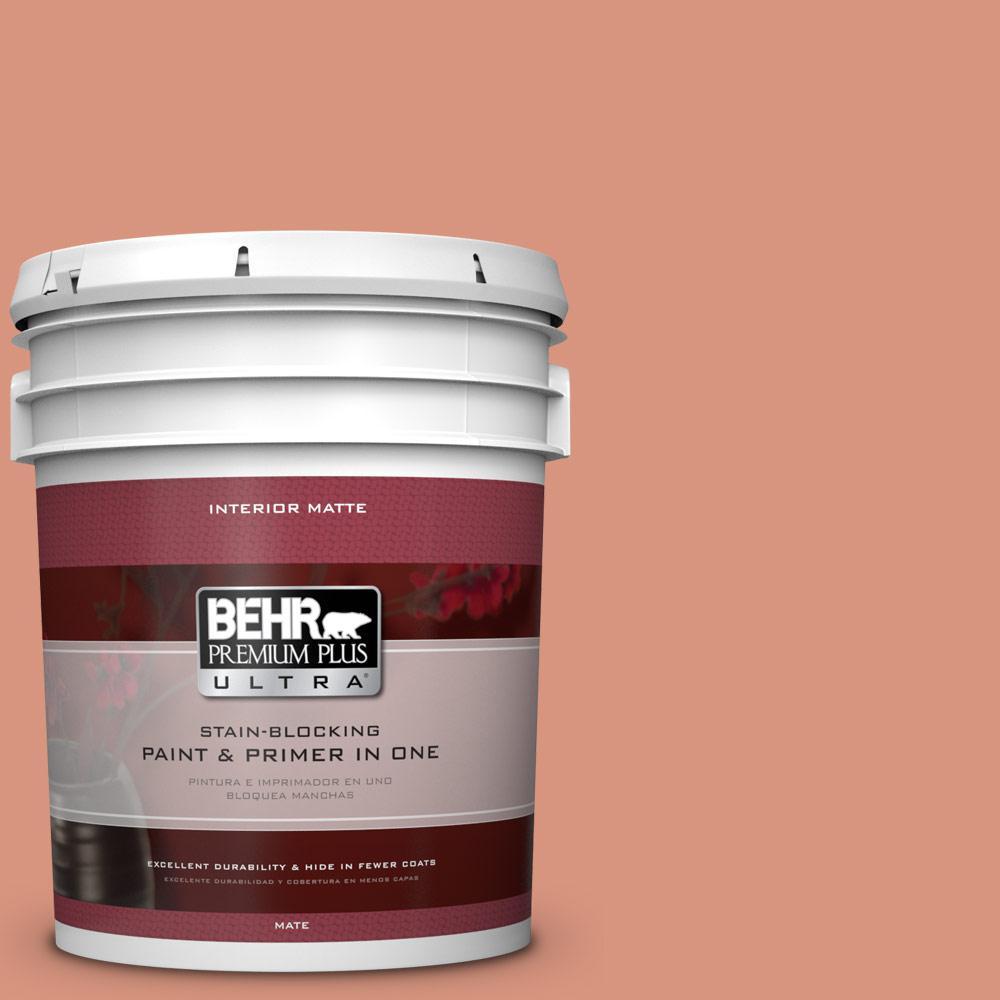BEHR Premium Plus Ultra 5 gal. #BIC-17 Tropical Blooms Matte Interior Paint