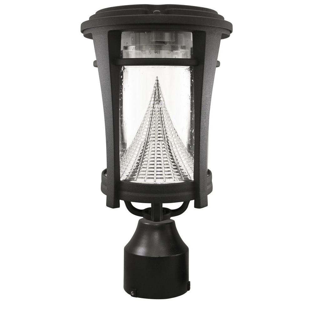 Aurora Single Black Integrated LED Outdoor Solar Lamp with 3-Mounting Options