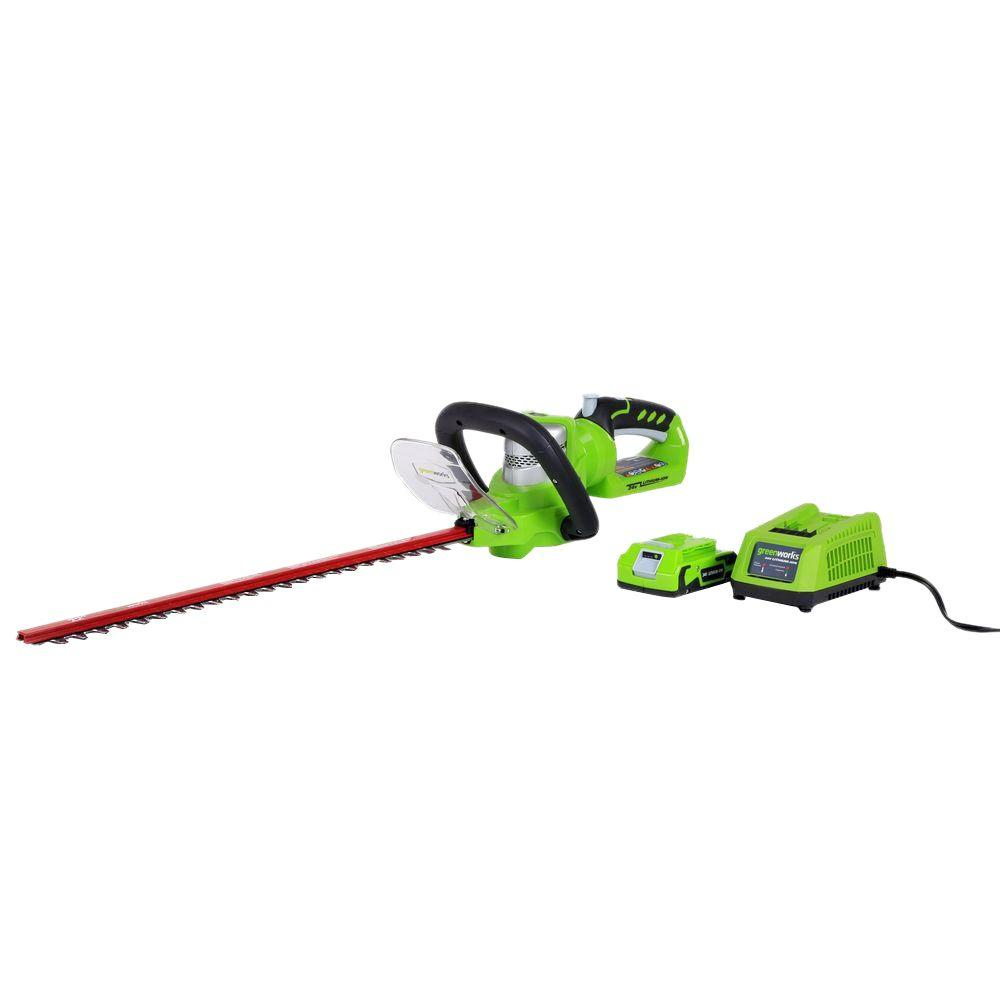 G-24 22 in. 24-Volt Cordless Hedge Trimmer - Battery and Charger