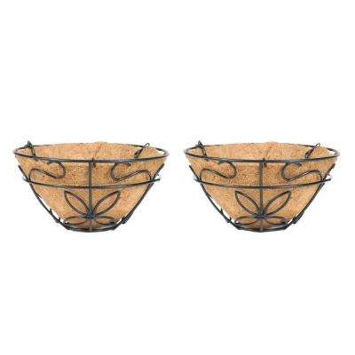 9-1/2 in. Coconest/Steel Hanging Basket (2-Pack)