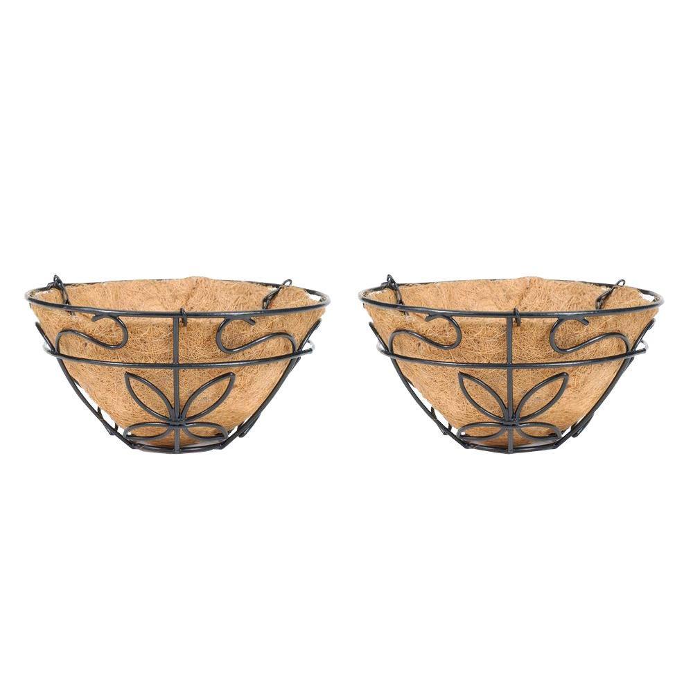 9-1/2 in. Coconest/Steel Hanging Basket (2-Pack)