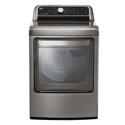 7.3 cu. ft. Smart Gas Dryer with WiFi Enabled in Graphite Steel, ENERGY STAR