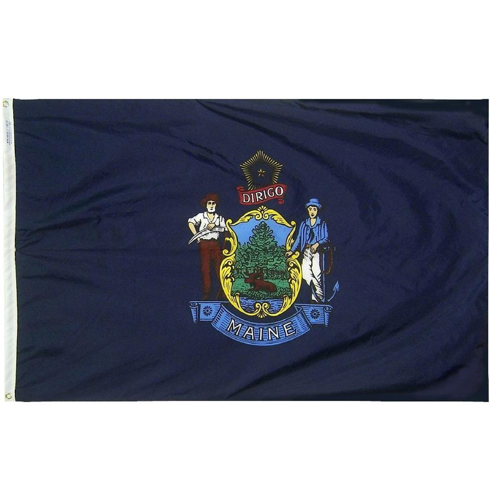 3 ft. x 5 ft. Maine State Flag