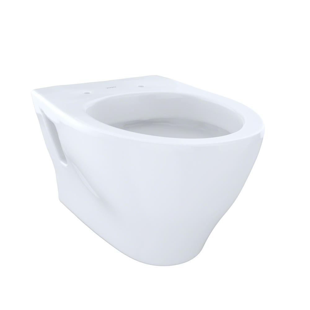 TOTO Drake 2-Piece 1.6 GPF Single Flush Round Toilet in Cotton White ...