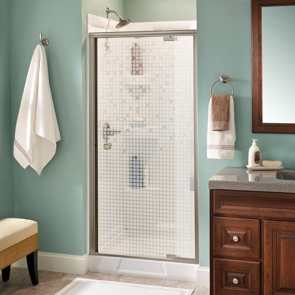 Mandara 36 in. x 66 in. Semi-Frameless Pivot Shower Door in