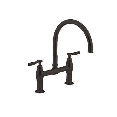Parq 2-Handle Bridge Kitchen Faucet in Oil-Rubbed Bronze