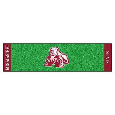NCAA Mississippi State University 1 ft. 6 in. x 6 ft. Indoor 1-Hole Golf Practice Putting Green