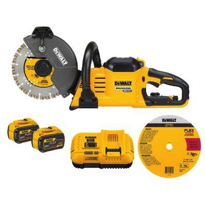 FLEXVOLT 60-Volt Lithium-Ion 9 in. Construction Saw
